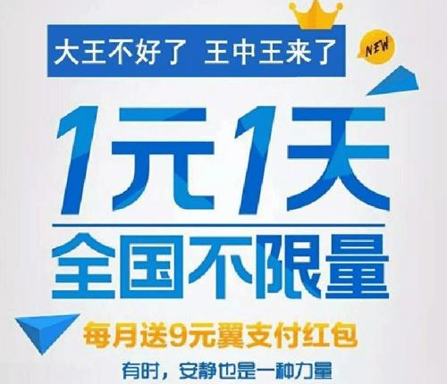 wangzhongwang,电信王中王卡,1元1天全国不限流量