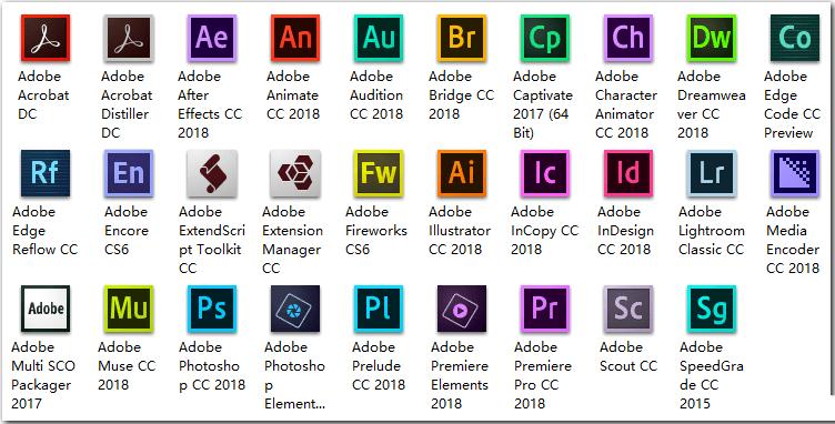 嬴政天下Adobe CC 2018 全家桶大师版