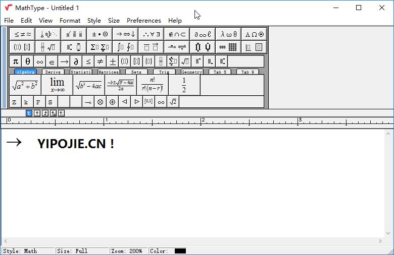 数学公式编辑器 MathType v7.1.0(302)for Win 汉化版